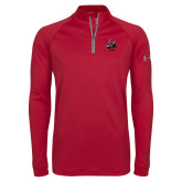 Under Armour Cardinal Tech 1/4 Zip Performance Shirt-M with Knight
