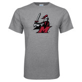 Grey T Shirt-M with Knight