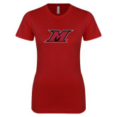 Next Level Ladies SoftStyle Junior Fitted Cardinal Tee-M Icon