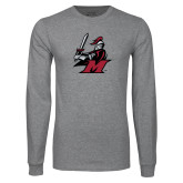 Grey Long Sleeve T Shirt-M with Knight