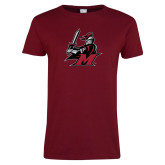 Ladies Cardinal T Shirt-M with Knight