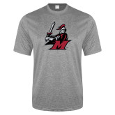 Performance Grey Heather Contender Tee-M with Knight