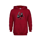Youth Cardinal Fleece Hoodie-M with Knight