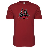 Next Level SoftStyle Cardinal T Shirt-M with Knight