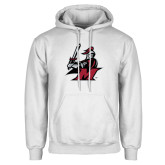 White Fleece Hoodie-M with Knight