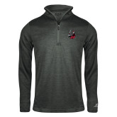 Russell Charcoal Heather 1/4 Zip-M with Knight