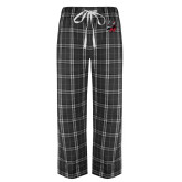 Black/Grey Flannel Pajama Pant-M with Knight