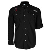 Columbia Bahama II Black Long Sleeve Shirt-M with Knight