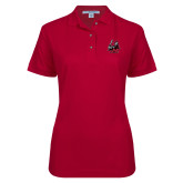 Ladies Easycare Cardinal Pique Polo-M with Knight