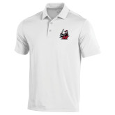 Under Armour White Performance Polo-M with Knight