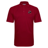 Cardinal Textured Saddle Shoulder Polo-M with Knight