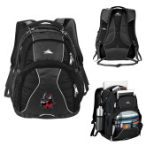 High Sierra Swerve Black Compu Backpack-M with Knight