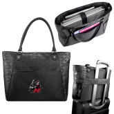 Sophia Checkpoint Friendly Black Compu Tote-M with Knight