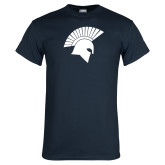 Navy T Shirt-Spartan Icon