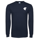 Navy Long Sleeve T Shirt-Spartan Icon