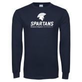 Navy Long Sleeve T Shirt-Primary Mark