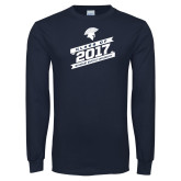Navy Long Sleeve T Shirt-Class of…, Personalized year
