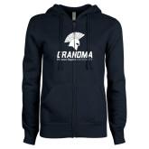 ENZA Ladies Navy Fleece Full Zip Hoodie-Grandma
