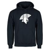 Navy Fleece Hoodie-Spartan Icon