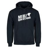 Navy Fleece Hoodie-MBU Spartans Slashes
