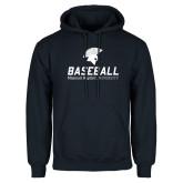 Navy Fleece Hoodie-Baseball