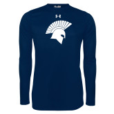 Under Armour Navy Long Sleeve Tech Tee-Spartan Icon