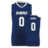 Replica Navy Adult Basketball Jersey-Personalized (Women)