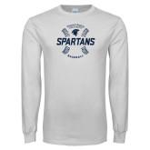 White Long Sleeve T Shirt-Baseball Seams
