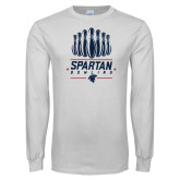 White Long Sleeve T Shirt-Spartans Bowling