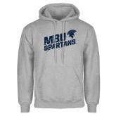 Grey Fleece Hoodie-MBU Spartans Slashes