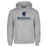 Grey Fleece Hoodie-Baseball