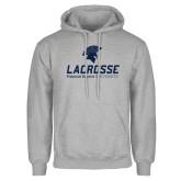 Grey Fleece Hoodie-Lacrosse
