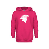 Youth Raspberry Fleece Hoodie-Spartan Icon
