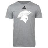 Adidas Sport Grey Logo T Shirt-Spartan Icon