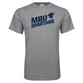 Grey T Shirt-MBU Spartans Slashes