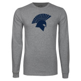 Grey Long Sleeve T Shirt-Spartan Icon