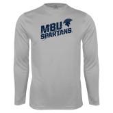 Performance Platinum Longsleeve Shirt-MBU Spartans Slashes