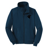 Navy Charger Jacket-Spartan Icon