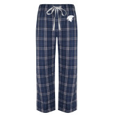 Navy/White Flannel Pajama Pant-Spartan Icon