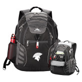 High Sierra Big Wig Black Compu Backpack-Spartan Icon