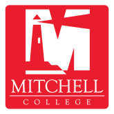 Large Decal-Mitchell College Vertical Logo, 12 inches tall