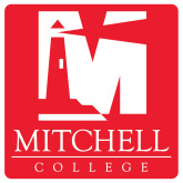 Extra Large Decal-Mitchell College Vertical Logo, 18 inches tall