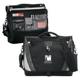 Slope Black/Grey Compu Messenger Bag-Mitchell College Vertical Logo