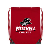Red Drawstring Backpack-Primary Athletics Mark