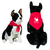 Red Pet Bandana-Mitchell College Vertical Logo