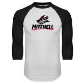 White/Black Raglan Baseball T Shirt-Mitchell W Mariner