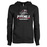 ENZA Ladies Black Fleece Full Zip Hoodie-Mitchell Mariners Stacked