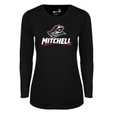 Ladies Syntrel Performance Black Longsleeve Shirt-Mitchell W Mariner