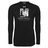 Under Armour Black Long Sleeve Tech Tee-Mitchell College Vertical Distressed