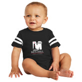 Black Jersey Onesie-Mitchell College Vertical Logo
